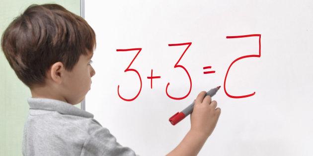 DYSLEXIC CHILD INCORRECTLY REVERSING NUMBER